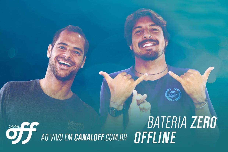 Gabriel Pastori e Marcelo Trekinho vo comandar o Bateria Zero e o Offline, no canal do OFF no YouTube, direto do Hava (Foto: Canal OFF)