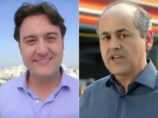 Ratinho Jr. e Gustavo Fruet recomeçam a apresentas as propostas para Curitiba nesta quinta-feira (11) (Foto: Reprodução)