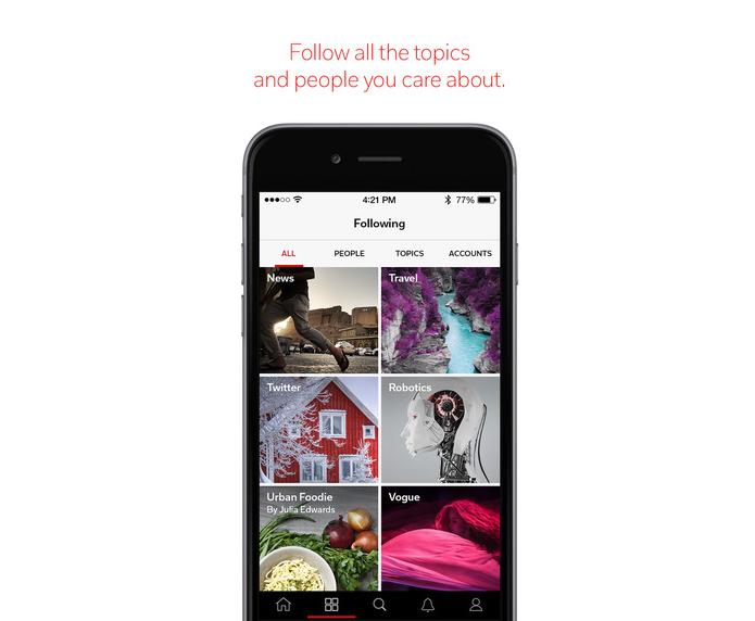 Flipboard é uma revista virtual para ler conteúdos das redes sociais (Foto: Divulgação)