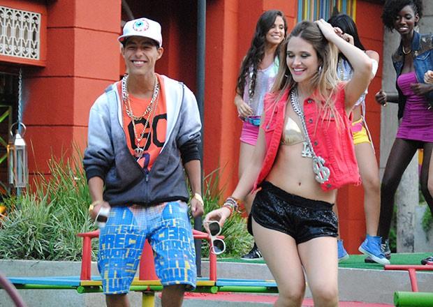 Pilha e Fatinha clipe (Foto: TV globo/Malhação)