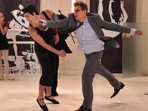 Felipe e Nando brigam mais uma vez (Foto: Guerra dos Sexos / TV Globo)