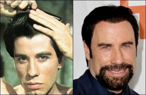 John Travolta fez boas aparições no cinema da década de 70 à de 90, graças a títulos como 'Os Embalos de Sábado à Noite' (1977) e 'Grease: Nos Tempos da Brilhantina' (1978). Mas o que o cinquentão fez de tão incrível depois de 'Pulp Fiction: Tempo de Violência' (1994)? Talvez 'Hairspray: Em Busca da Fama' (2007). E só. (Foto: Reprodução e Getty Images)