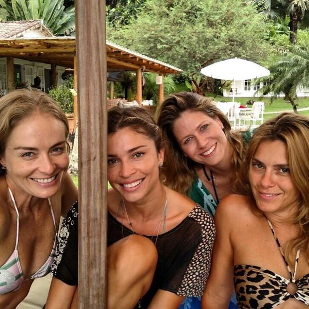 Angélica, Grazi, Carol e Didi (Foto: Reprodução/Instagram)