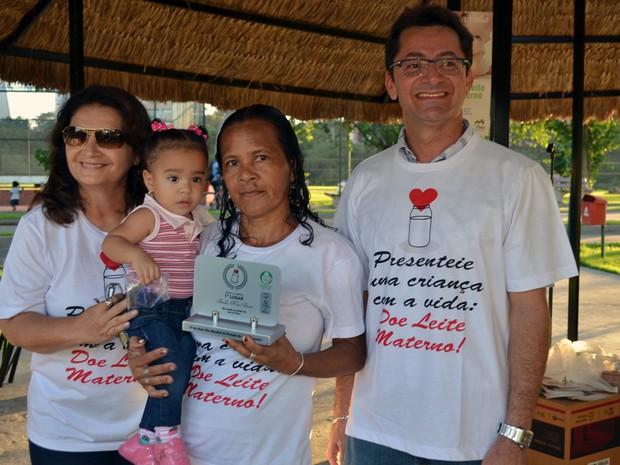 Iones Maria Bezerra ficou em 1º lugar com 32,7 litros doados. (Foto: Ascom/Sesapi)
