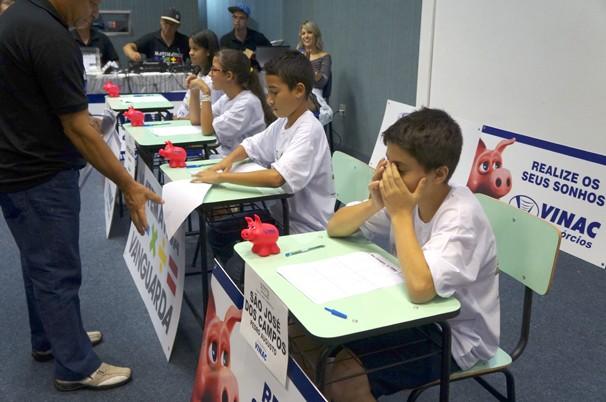 Final do Matemática Vanguarda movimentou alunos da região (Foto: Paula Franco/ Vanguarda)