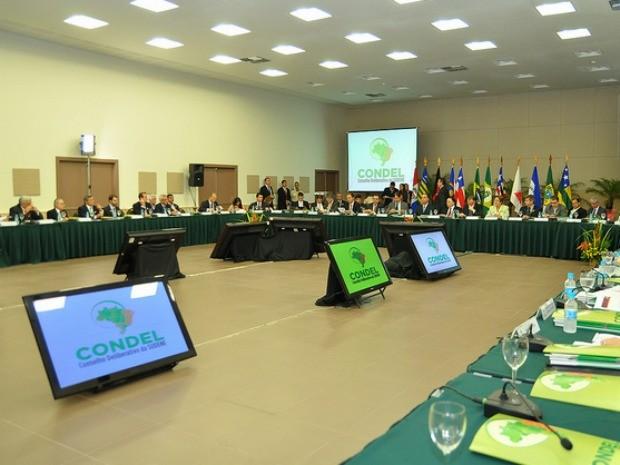 Encontro no Centro de Feiras e Eventos do Ceará reuniu ministro da Ingtegração e governador dos estados do Nordeste (Foto: Ministério da Integração/Divulgação)