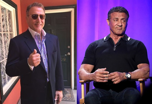 Frank e Sylvester Stallone (Foto: Twitter / Getty Images)