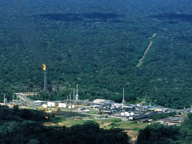 Bacia Petrolífera de Urucu, no Amazonas (Foto: Divulgação/Petrobras)