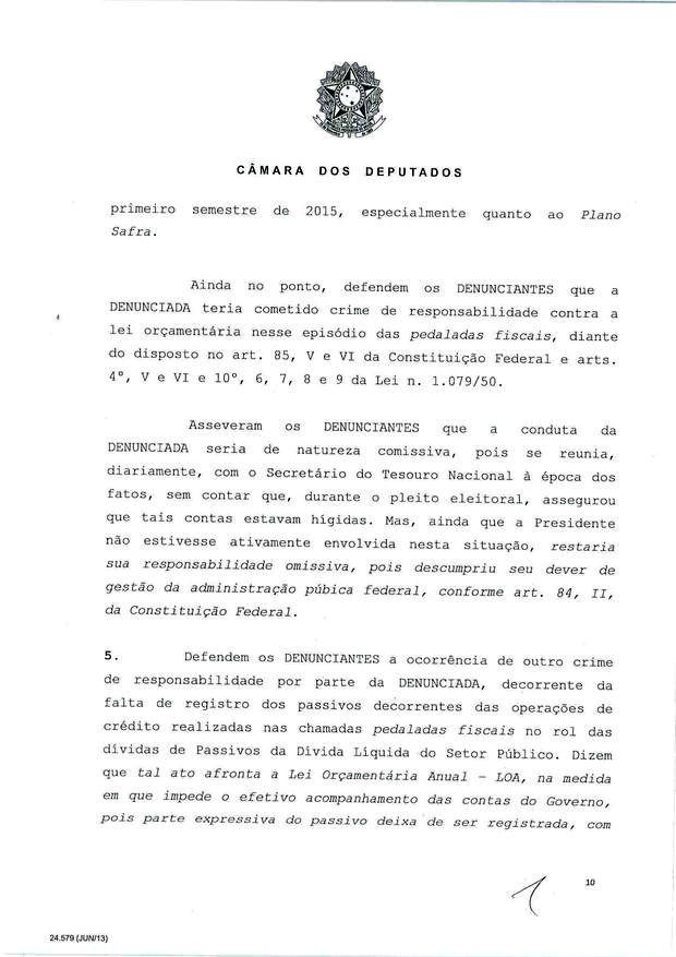 10 - Leia íntegra da decisão de Cunha que abriu processo de impeachment (Foto: Reprodução)
