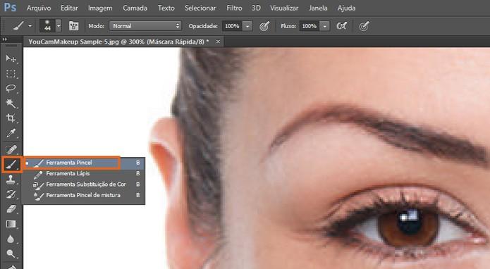 Selecione a ferramenta de pincel no Photoshop (Foto: Reprodução/Barbara Mannara) (Foto: Selecione a ferramenta de pincel no Photoshop (Foto: Reprodução/Barbara Mannara))
