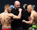 McGregor provoca, mas Dennis Siver o ignora na pesagem do UFC Boston