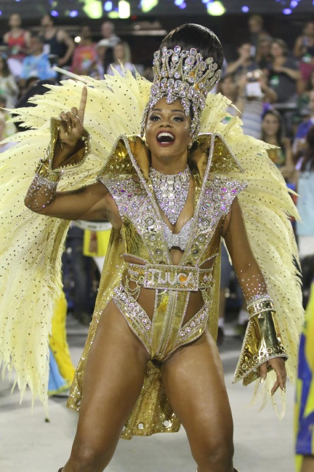 Juliana Alves desfilando pela Unidos da Tijuca (Foto: Daniel Pinheiro /AgNews )