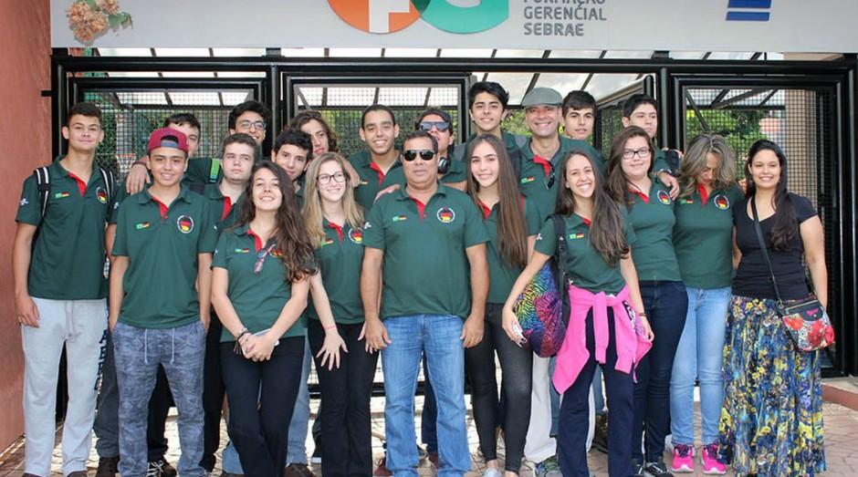 Alunos da Escola do Sebrae conquistaram o 1º, 2º, 3º e 4º lugares no Global Enterprise Challenge (Foto: Divulgação)