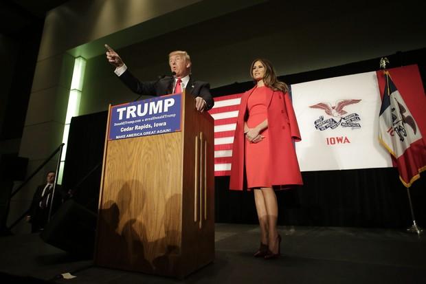 Donald Trump e Melania (Foto: AFP)
