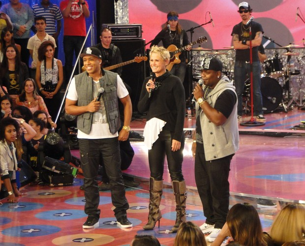 MC Marcinho e MC Koringa são convidados do TV Xuxa (Foto: Divulgação/Rede Globo)