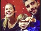 Luana Piovani vai como filho Dom e o marido, Pedro Scooby, ao circo