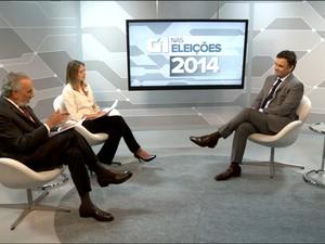 Candidato Aécio Neves em entrevista ao G1 (Foto: Reprodução/G1)