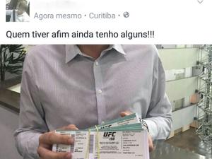 Polícia ouviu cinco pessoas em Curitiba, nesta sexta, sobre venda ilegal de ingressos do UFC (Foto: Divulgação/Polícia Civil)