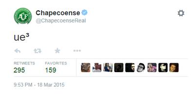 Chapecoense brincadeira (Foto: Reprodução)