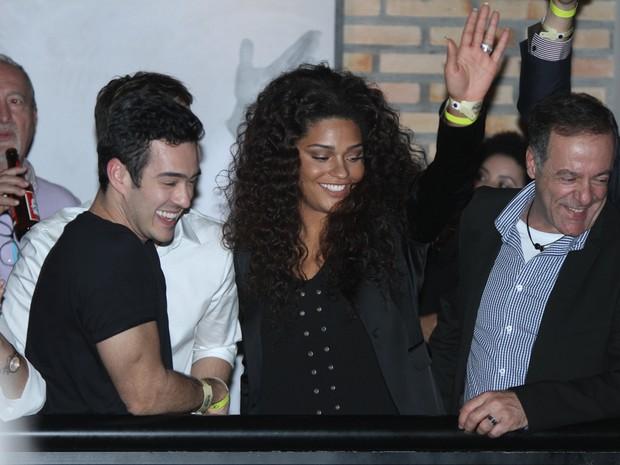 Marcos Veras e Juliana Alves em show em São Paulo (Foto: Amauri Nehn/ Foto Rio News)