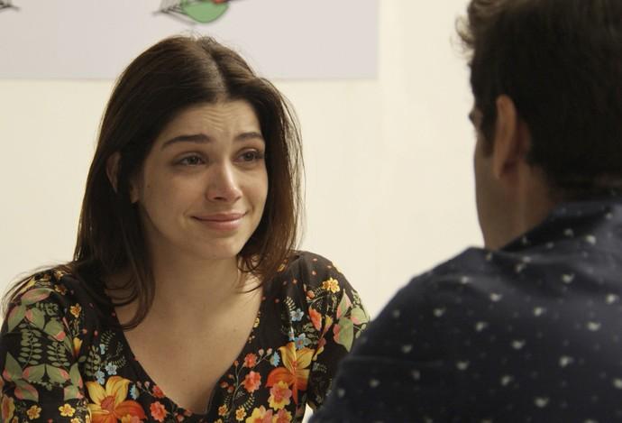 Shirlei recebe visita de Felipe na prisão (Foto: TV Globo)