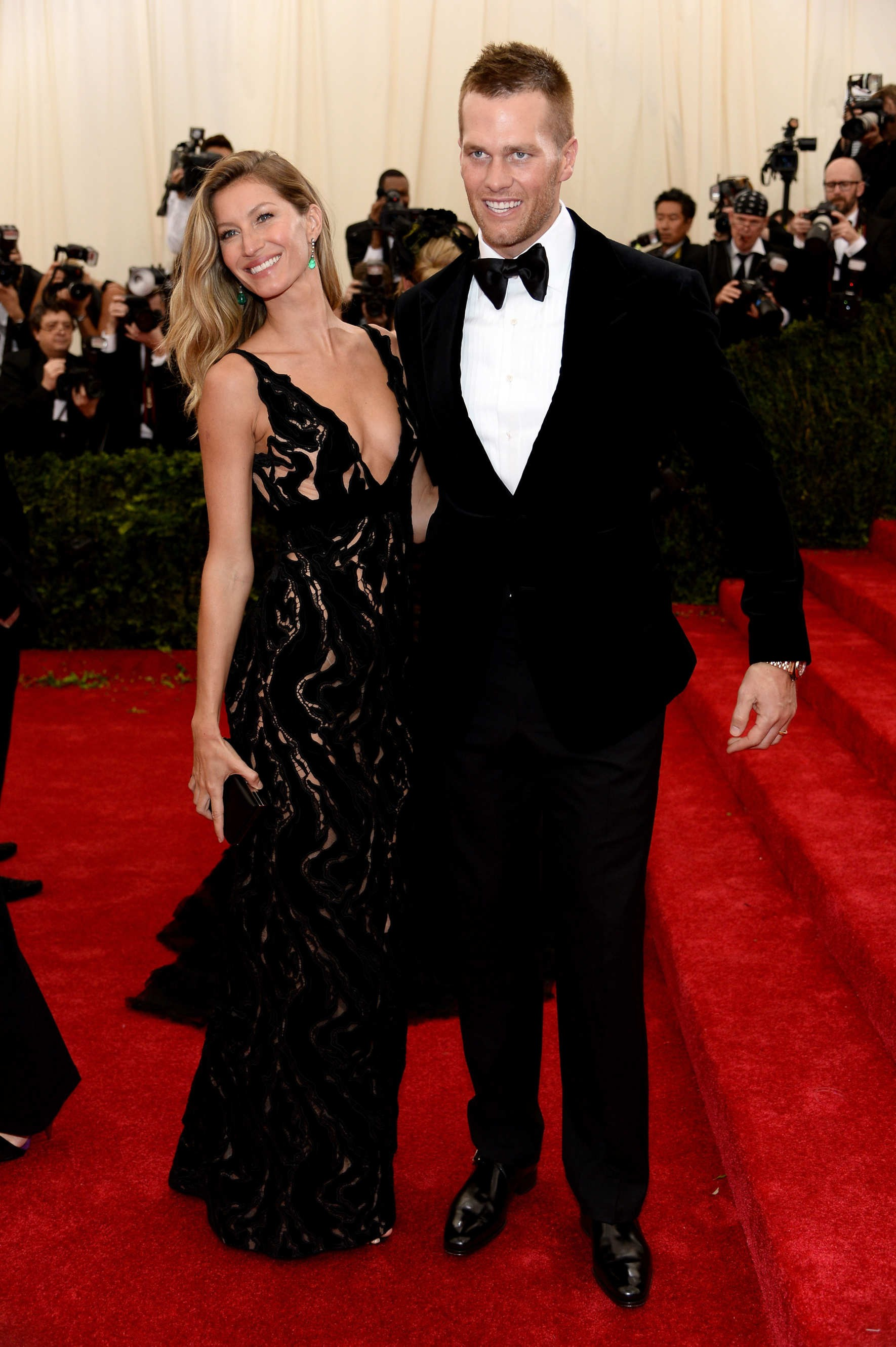 Gisele Bundchenm, de Balenciaga, no Baile do Met de 2014 (Foto: Getty Images)