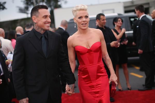 A cantora Pink com o marido Carey Hart  (Foto: Getty Images)