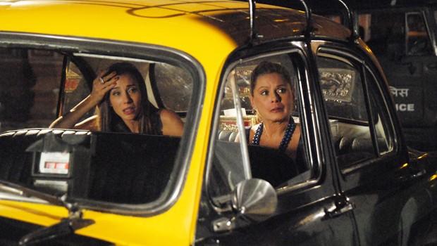 Duda (Tânia Kalil) decide contar toda a verdade sobre o filho que espera de Raj (Rodrigo Lombardi) (Foto: CEDOC Globo)