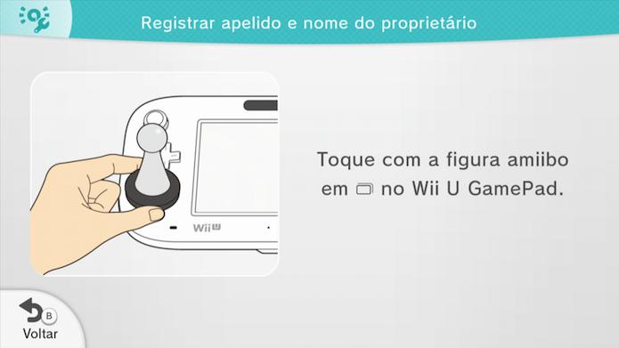 Toque o Amiibo no sensor (Foto: Reprodução/Murilo Molina)