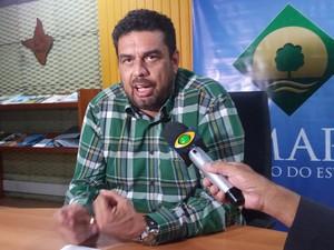 Alcir Matos, secretário estadual das Cidades (Foto: John Pacheco/G1)