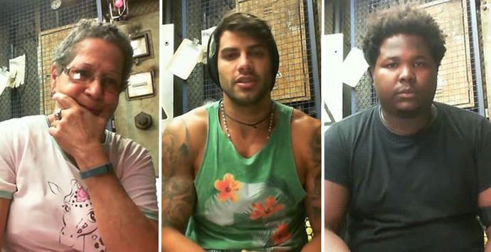 Emparedados, Geralda, Renan e Ronan pedem ajuda (Foto: Gshow)