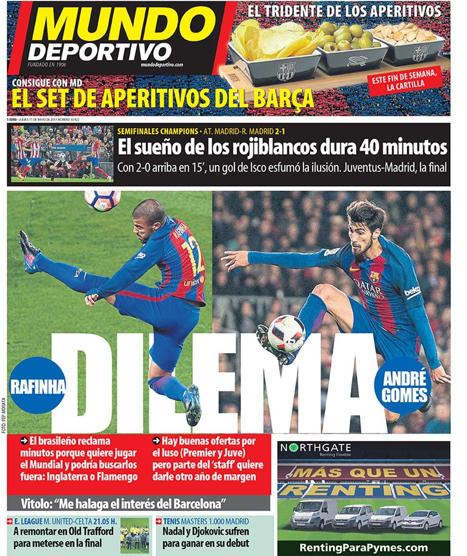 Mundo Deportivo fala sobre Rafinha no Flamengo (Foto: Reprodução)