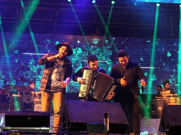 Show  da dupla Henrique e Juliano agita o público na 4ª noite da Faici, em Indaiatuba  (Foto: Foto: Pedro Amatuzzi)