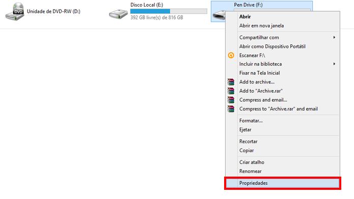 Configurações podem ser acessadas no explorador do Windows (Foto: Reprodução/Windows)