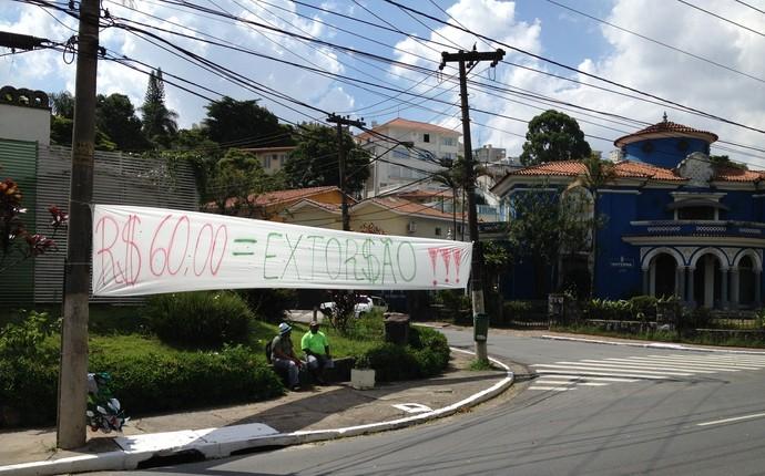 Protesto Palmeiras ingressos (Foto: Felipe Zito/GloboEsporte.com)