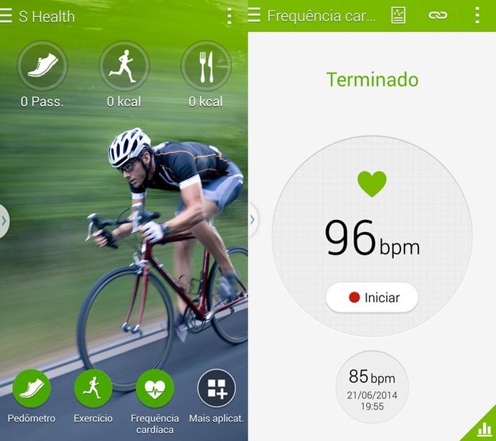 Medidor de frequência cardíaca do Galaxy S5 (Foto: Reprodução)