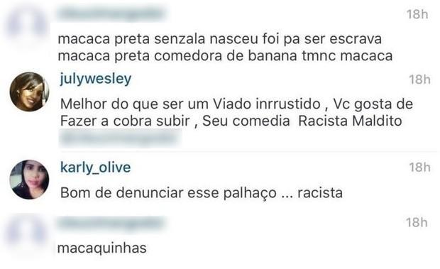 Comentários preconceituosos contra Adélia (Foto: Reprodução/ Instagram)