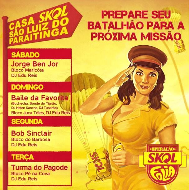 Material não oficial trazia a programação que não foi autorizada pela comissão de carnaval da prefeitura de São Luiz do Paraitinga. (Foto: Reprodução)