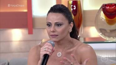 Viviane Araújo comenta reação de seu noivo, que é jogador de futebol, ao saber do acidente