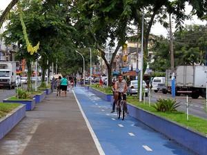 Nova ciclovia em Macaé (Foto:  Ana Chaffin/Secom Macaé)