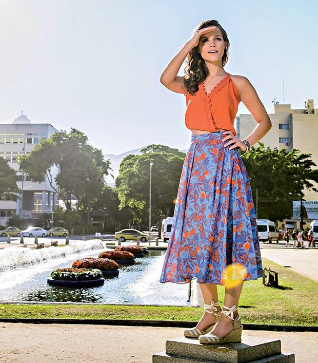 Joana na Praça General Tibúrcio  (Foto:  )
