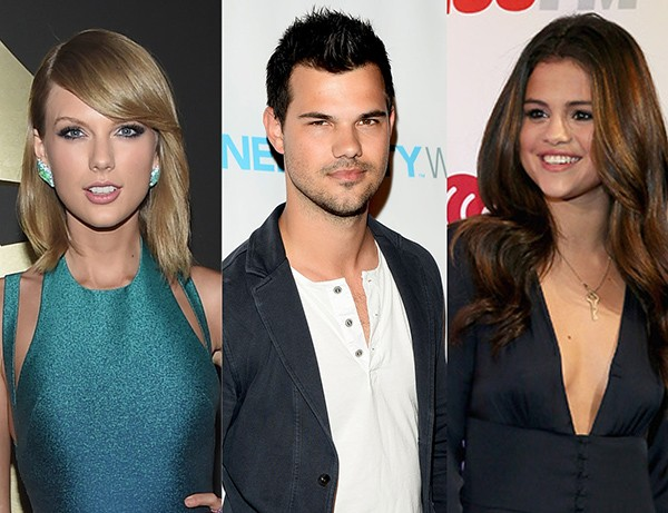 Taylor Swift, Taylor Lautner e Selena Gomez (Foto: Getty Images)