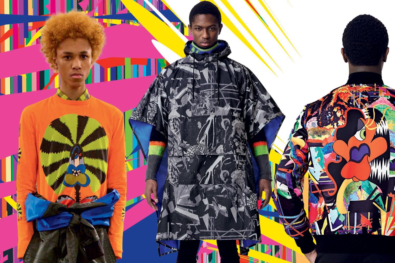 A nova coleção masculina da Marc by Marc Jacobs inspirada nos trabalhos do duo acaba de desembarcar nas lojas da grife. São suéteres, sobretudos e bolsas, tudo seguindo o espírito multicolorido do AVAF (Foto: Divulgação)