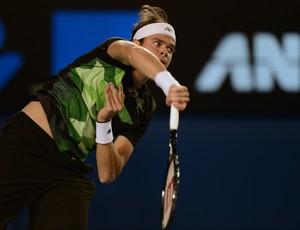 Federer contra Raonic oitavas aberto da australia (Foto: AFP)