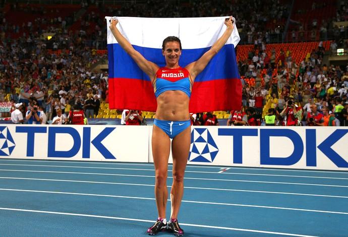 Yelena Isinbayeva comemoração mundial (Foto: Getty Images)