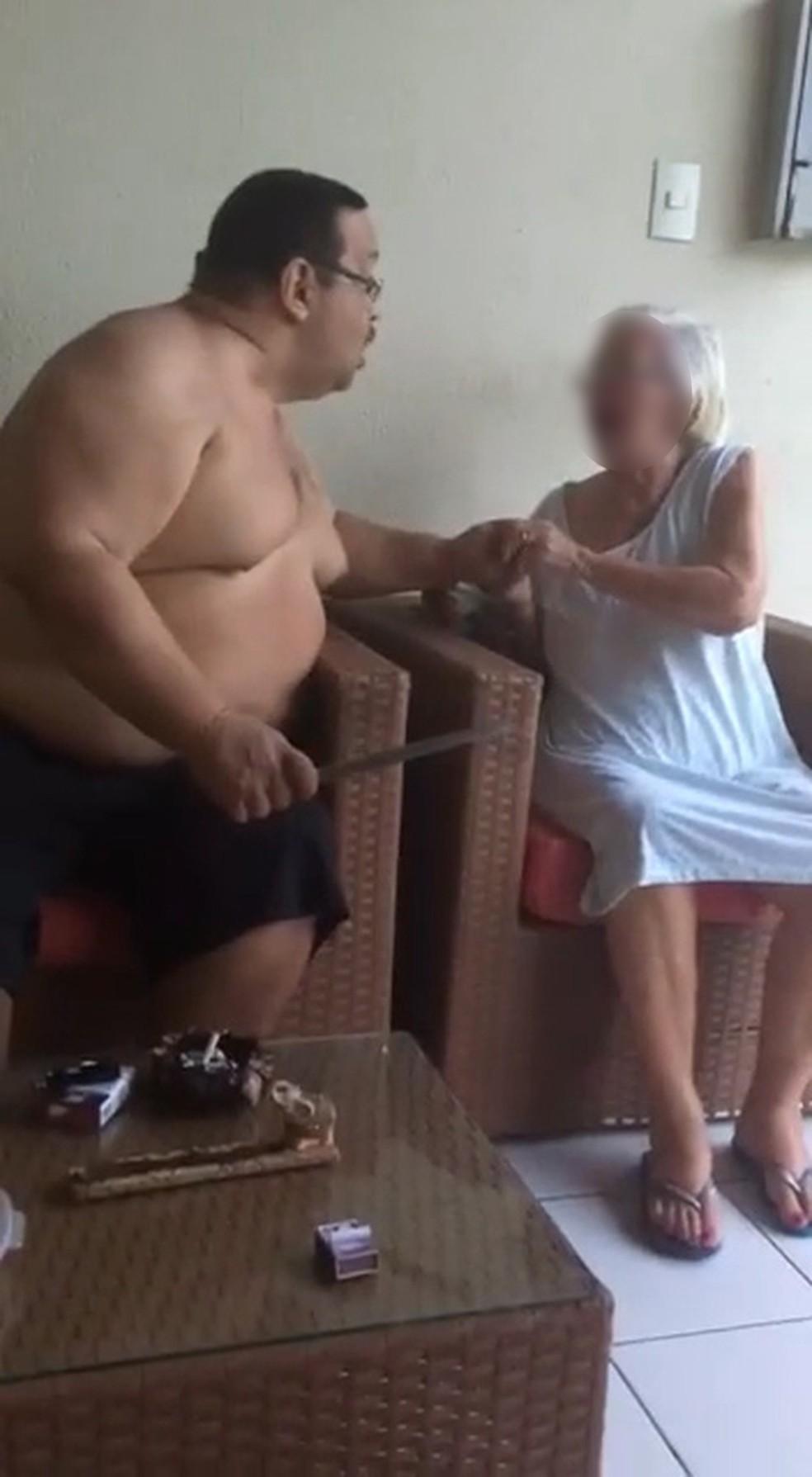 Idosa de 84 anos é agredida pelo próprio filho no Maranhão (Foto: Reprodução)