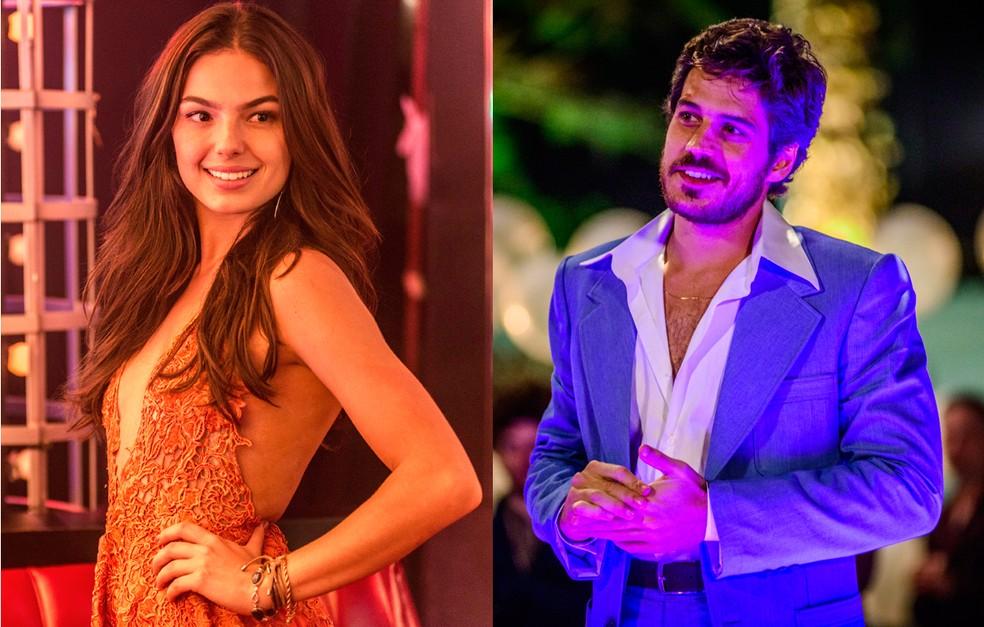 Isis Valverde e Marco Pigossi eram Sandra e Rafael, o casal apaixonado de 'Boogie Oogie' (Foto: Renato Rocha Miranda e Alex Carvalho/TV Globo)