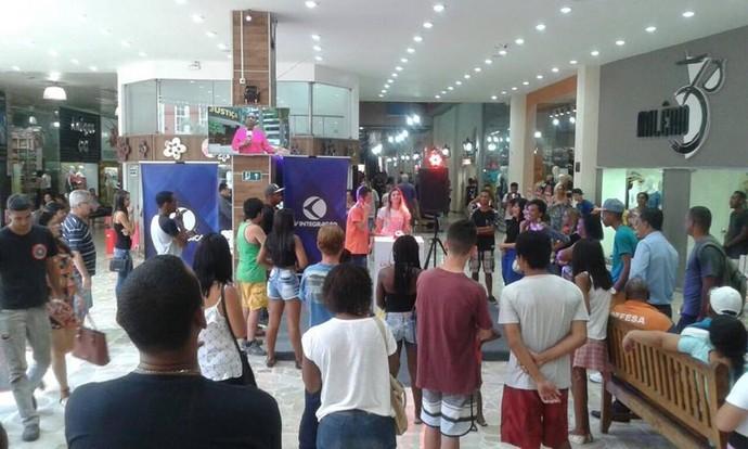 Ação aconteceu no Shooping Santa Cruz (Foto: Divulgação)