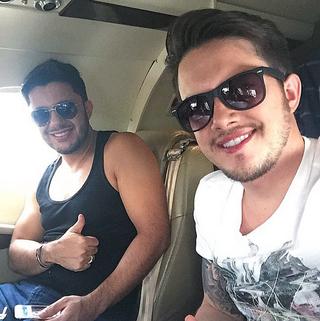 Cristiano Araújo e Vitor Leonardo (Foto: Reprodução/Instagram)