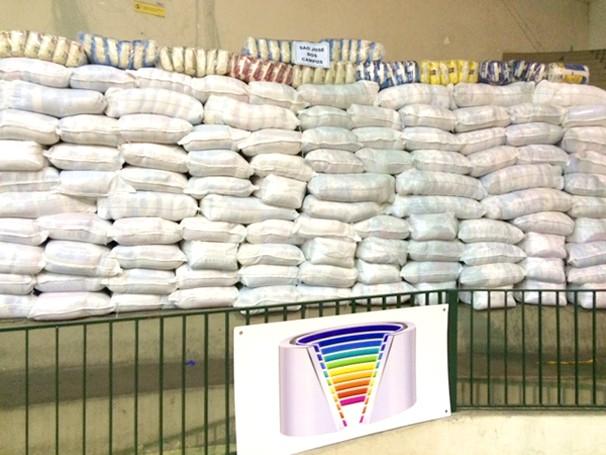 Escolas arrecadam arroz na Gincana da Solidariedade (Foto: Divulgação)